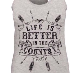 Tops - Life Is Better In The Country Tank